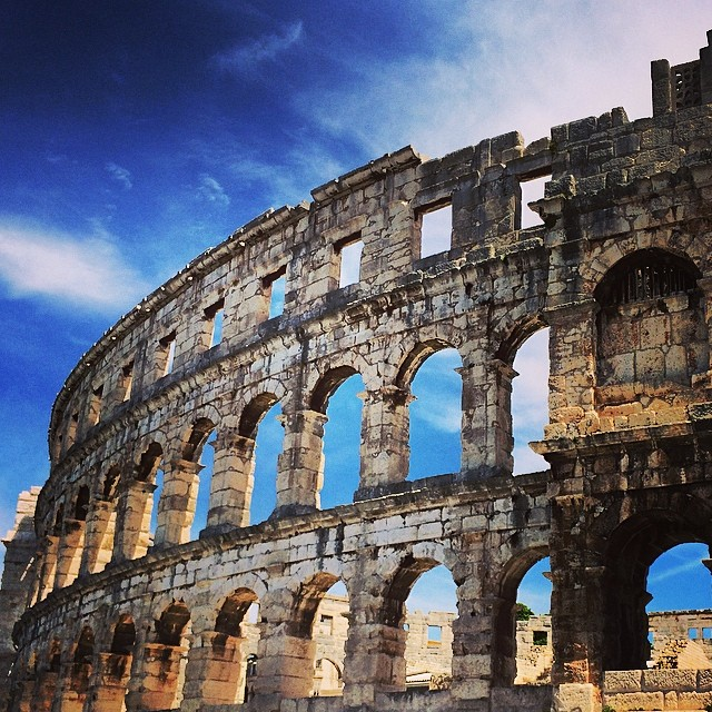 When in Pula #croatia #pula #amphitheater #gladiator #holiday